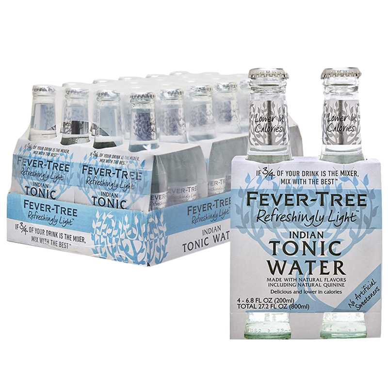 Fever Tree Refreshingly Light Indian Tonic Water 200ml x 24