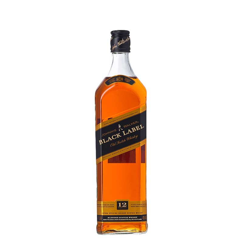 Johnnie Walker Black Label Scotch Whisky  1 Litre
